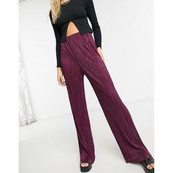 - Pantalon large plissé - Bordeaux - ASOS DESIGN - Modalova
