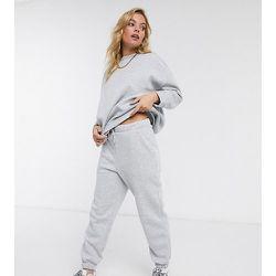 ASOS DESIGN Petite - Survêtement avec sweat-shirt et jogger oversize - chiné - ASOS Petite - Modalova