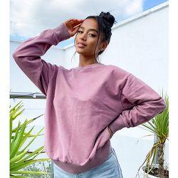 ASOS DESIGN Petite - Sweat-shirt oversize délavé - Blush - ASOS Petite - Modalova