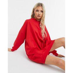 Robe pull oversize à capuche - vif - ASOS DESIGN - Modalova