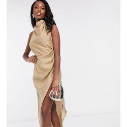 ASOS DESIGN Tall - Robe longue texturée en crêpe à col bénitier avec dos découvert - ASOS Tall - Modalova