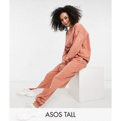 ASOS DESIGN Tall - Survêtement oversize avec sweat-shirt et jogger à nervures - Terre cuite délavé - ASOS Tall - Modalova