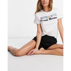 Pyjama à slogan avec t-shirt et short - Brave Soul - Modalova