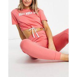 Pyjama avec t-shirt et pantalon à inscription - Brave Soul - Modalova