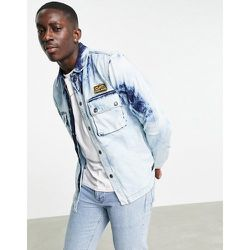 Caterpillar - Surchemise en jean à fermeture éclair - délavé - Cat Footwear - Modalova