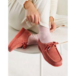 - Wallabee- Chaussures plates en daim - Blush foncé - Clarks Originals - Modalova