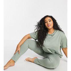 Exclusivité - ASOS DESIGN Curve - Mix & Match - T-shirt de pyjama en jersey - Kaki - ASOS Curve - Modalova