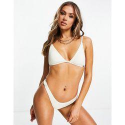 Mix and Match - Haut de bikini triangle froncé - Ivoire - Free Society - Modalova