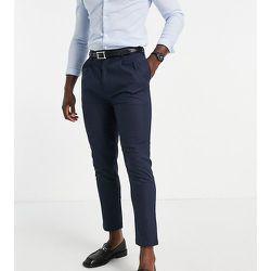 Tall - Pantalon plissé en lin - Bleu - Gianni Feraud - Modalova