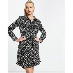 Robe chemise à imprimé animal - Girl In Mind - Modalova