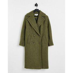 Manteau croisé en bouclé - Vert sauge - Helene Berman - Modalova