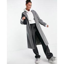 Manteau croisé en laine mélangée - chiné - Helene Berman - Modalova