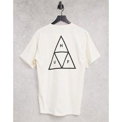 Essentials - T-shirt à imprimé trois triangles - Beige - HUF - Modalova