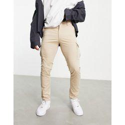 Premium - Pantalon cargo skinny stretch - Beige - jack & jones - Modalova