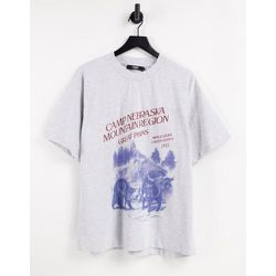 T-shirt oversize à imprimé Nebraska - Jaded London - Modalova