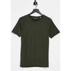 T-shirten coton biologique - Kaki - Knowledge Cotton Apparel - Modalova