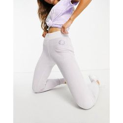 Jogger en velours avec logo pailleté - Lilas - Lipsy - Modalova