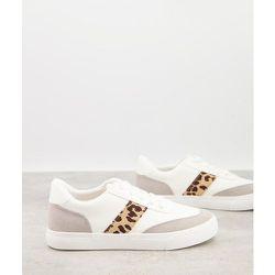 Baskets à lacets avec rayures sur les côtés - et léopard - London Rebel - Modalova