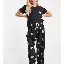 Maternity - Ensemble de pyjama long à imprimé étoile façon léopard - Noir - Loungeable - Modalova