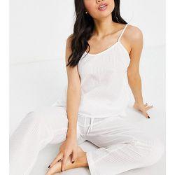 Petite - Mix and Match - Haut de pyjama caraco en crêpe - Loungeable - Modalova