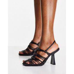 Chaussures à talon et lacets avec bout carré - Mango - Modalova