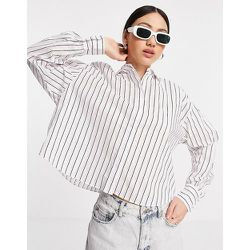 Chemise courte à rayures - Mango - Modalova