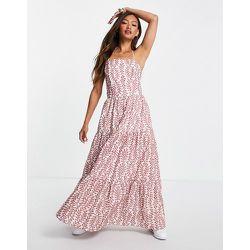 Robe longue avec laçage dans le dos et imprimé fleuri - Mango - Modalova