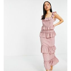 Robe longue à volants - Missguided Petite - Modalova