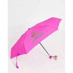 Parapluie à motif ours joueur de baseball avec breloque - Moschino - Modalova