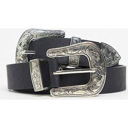 London - Ceinture pour blazer à double boucle style western, en exclusivité - My Accessories - Modalova