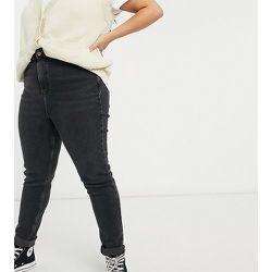 New Look Curve - Jean mom - Noir - New Look Plus - Modalova