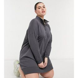 Robe style rugby à col montant - Anthracite - Noisy May Curve - Modalova