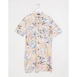 Robe chemise courte à imprimé abstrait - Noisy May - Modalova