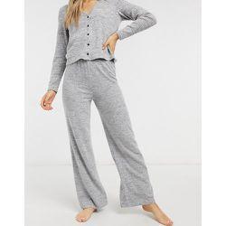 Pantalon confort toucher doux en maille (ensemble) - Pieces - Modalova