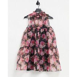 London - Robe droite à col montant et imprimé floral - rare - Modalova