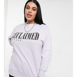 Inspired Plus - Sweat-shirt à imprimé logo - Lilas - Reclaimed Vintage - Modalova