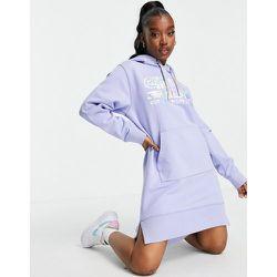 Robe molletonnée à capuche en jersey avec logo sur le devant - Lilas - Replay - Modalova