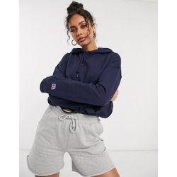 Hoodie avec poches sur le devant - Bleu - Russell Athletic - Modalova