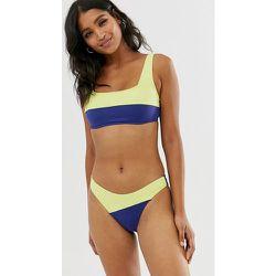 Bas de bikini échancré rehaussé de fluo - Bleu - Seafolly - Modalova