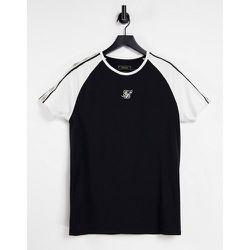 T-shirt de qualité supérieure avec manches raglan et bandes - SikSilk - Modalova