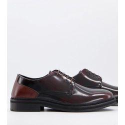 Chaussures chunky à lacets en cuir - Bordeaux - Silver Street - Modalova