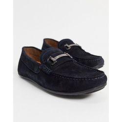 Chaussures de conduite en daim avec détails métalliques - Bleu - Silver Street - Modalova