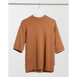 T-shirt décontracté col montant à épaules tombantes - Fauve - Sixth June - Modalova