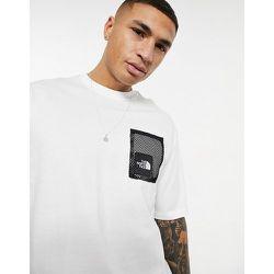 T-shirt coupe carrée à encadré noir - The North Face - Modalova