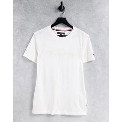 T-shirt avec logo signature ton sur ton - Tommy Hilfiger - Modalova