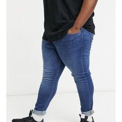 Jean skinny stretch en coton biologique mélangé - Délavage moyen - Topman - Modalova