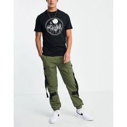 Pantalon cargo skinny avec détails en toile - Kaki - Topman - Modalova