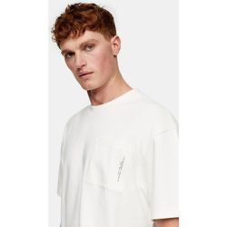 T-shirt à poche texturée - Écru - Topman - Modalova