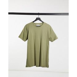 Topman - T-shirt long - Vert - Topman - Modalova