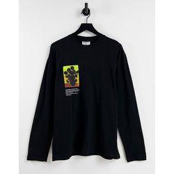 T-shirt oversize à manches longues et imprimé tournesol - Topman - Modalova